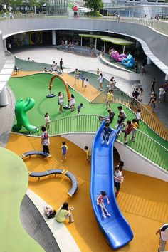 Shopping mall playgrounds in Singapore - guide for parents - Einkaufen Playground Design, Backyard Playground, Plastic Playground, Playground Set, Toddler Playground, School Building Design, School Design, Cool Playgrounds, Kid Spaces