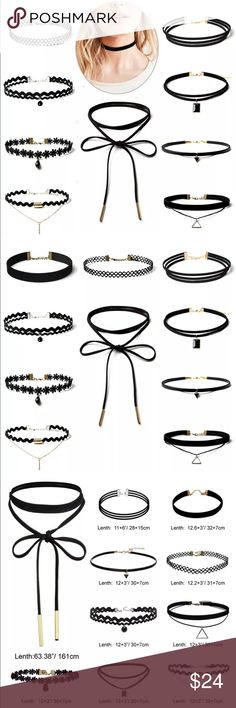 New 10 Pcs black velvet gothic punk collar choker NWT brand new black velvet gothic punk collar choker lace pendant fashion necklace women's Ladies. You will receive 10 pcs.  Check out my closet, we have a variety of women's, Victoria Secret, handbags  purse  Aerosoles, shoes Gold, silver, black chocker fashion jewelry, necklace, clothing, dress, Beauty, home  .  Ships via USPS. Smoke & Pet-Free. Offers 30% OFF bundle discount. Always a FREE GIFT  with every purchase!!! Thank you. Jewelry…