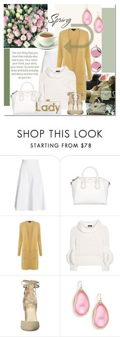 """Untitled #1689"" by elena-777s ❤ liked on Polyvore featuring TRANSIT, Victoria Beckham, Givenchy, Burberry, Ivanka Trump, Alexis Bittar, 2017 and springsummer2017"