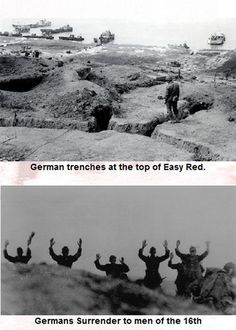 German trenches at the top of Easy Red, Omaha beach.