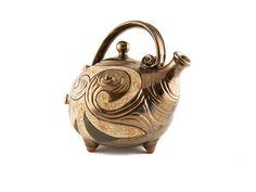 Handmade Ceramic Teapot 37oz Antique - Handmade Ceramics and pottery   Teapots, Coffee and Tea Mugs, Vases, Bowls, Plates, Ashtrays   Handmade stoneware - 3