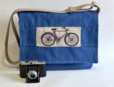 Winter fashion Travel bag Messenger  bag 17  Laptop bag by ikabags, $98.00