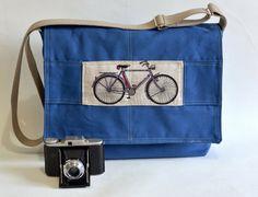 BLUE CANVAS French Messenger bag /Shoulder Bag/Laptop