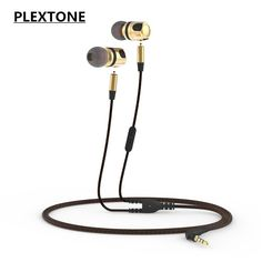 >> Click to Buy << PLEXTONE X46M 3.5mm fone de ouvido Metal Earphones Stereo Bass Earbuds Removable Headset with Mic for huawei xiaomi iphone MP3 #Affiliate