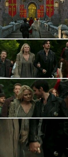 #CaptainSwan #OUAT #5x01- They're all linked arms and cuteness, and I LOOOVE IIIIIT