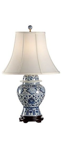 "more beautiful blue and white lamp inspirations use search box term ""blue and white"" @ click link: InStyle-Decor.com"