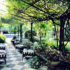 Lovely shady terrace. #Patio #Dinning #Oasis