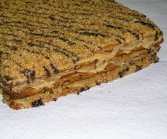 Hozzávalók: A tésztához: 45 dkg liszt, 10 dkg puha vaj, evőkanál akác­méz… Croatian Recipes, Hungarian Recipes, Homemade Sweets, Sweet Cookies, Cake Bars, Christmas Snacks, Sweet And Salty, Winter Food, Sweet Recipes