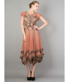 :: Crafty :: Sew :: Clothing ~ Downton Abbey Romantic Vienna Party Dress in Rose/Silver by Nataya