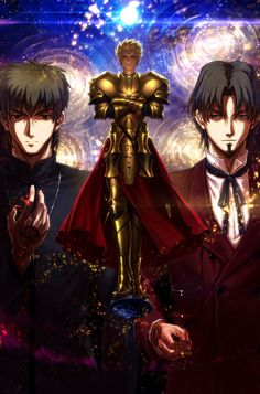 Fate/Zero - Archer and his Masters. Well, Gilgamesh basically despises Tokiomi (I agree) and goes after Kirei, Fate Stay Night Series, Fate Stay Night Anime, Fate Zero Kiritsugu, King Gilgamesh, Zero Wallpaper, Manga Anime, Anime Art, Male Character, Naruto
