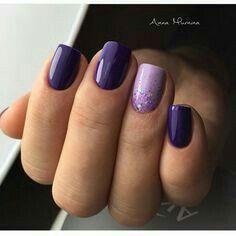 100 Beautiful Purple Nail Art Designs and Trendy Colors 2018