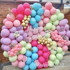 Balloon Wall, Balloon Garland, Balloon Background, 1st Birthday Girl Decorations, Balloon Decorations Party, Baby Shower Deco, Baby Shower Crafts, Ballon Backdrop, Balloons Galore
