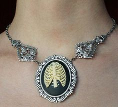 Anatomical ribs cameo necklace by Pinkabsinthe on DeviantArt