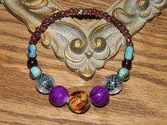 Wild Thing - Elegant Sporty Fancy Glass Bead Bracelet by SerenitysArt