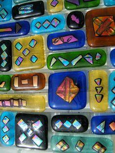 DICHROIC BORDER TILE wholesale fused glass kitchen tile backsplash tile border glass bathroom tile border kit dichroic tile border on Etsy, $30.00