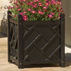 Linens N Things DMC Products 7020 - Chippendale Square Planter: 70212 Planter Black