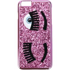 Flirting iPhone 7 Case from Chiara Ferragni  Pink Flirting iPhone 7 Case  with glitter design, signature winking eye appliqué and internal logo  detail. 4f6917e8eb