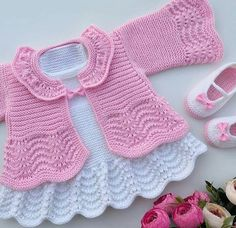 <img> Have a good evening, no fate, no. Recipe for previous shares İpim himalaya everyday bebe lux Şiş no - Crochet Baby Sweaters, Baby Cardigan Knitting Pattern, Knitted Baby Clothes, Knitted Romper, Baby Knitting Patterns, Crochet Dress Girl, Baby Girl Crochet, Diy Crafts Dress, Baby Dress Pattern Free