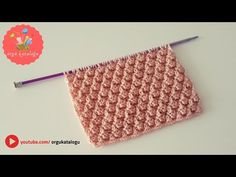 Let's learn together your own fashion accessories, basic and other creative points, techniques and tips to learn or develop the art of crochet and kni. Knitting Videos, Knitting Stitches, Baby Knitting, Blouse Designs, Fashion Accessories, Embroidery, Creative, How To Wear, Stuff To Buy
