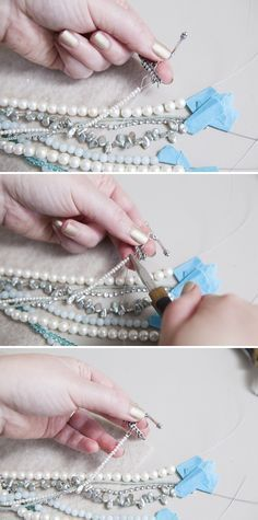 DIY Jewelry // How to make a multi-strand, bridal statement necklace ~ check out our full step by step tutorial!!!