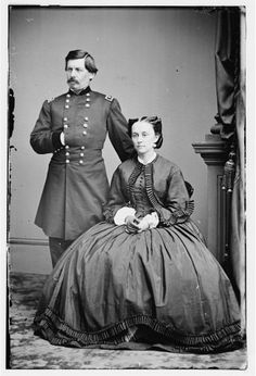 General George B. McClellan and wife Ellen Marcy (Nelly) McClellan, daughter of General Randolph Marcy
