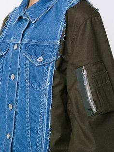 Sacai deconstructed denim bomber jacket