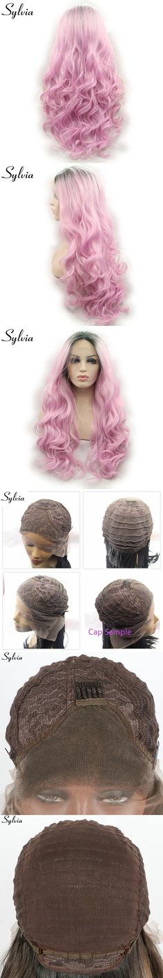 sylvia black to pike ombre body wave synthetic lace front wigs dark roots glueless heat resistant fiber drag queen cosplay hair