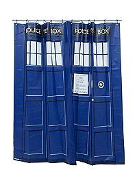 HOTTOPIC.COM - Doctor Who TARDIS Shower Curtain