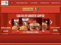 Hotsite desenvolvido para a campanha dos Favoritos do McDonald's.