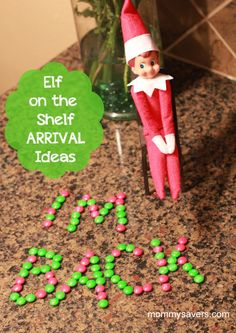 Elf on the Shelf Arrival Ideas - in-the-corner