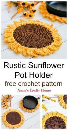 Crochet Kitchen, Crochet Home, Crochet Crafts, Crochet Projects, Kids Crochet, All Free Crochet, Easy Things To Crochet, Crochet Summer, Yarn Projects