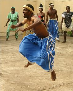 West African dancers.
