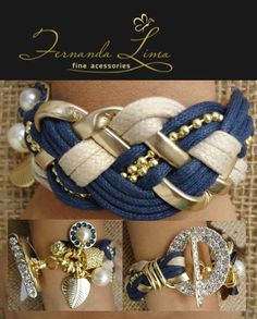 Love this idea anchors bracelet-fashion bracelets-luxury bracelets-wedding bracelets-diamond bracelets vintage . Fashion Bracelets, Jewelry Bracelets, Fashion Jewelry, Wedding Bracelets, Diy Bracelet, Silver Bracelets, Gold Necklace, Women Accessories, Jewelry Accessories