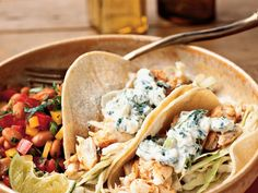 Dinner and tacos under 20 minutes? Cumin, coriander, and paprika lend these fish tacos a delightfully warm, smoky flavor. They're the...