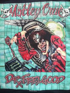 Vintage MOTLEY CRUE Tshirt/ 1989 Dr Feelgood by sweetVTGtshirt, $60.00