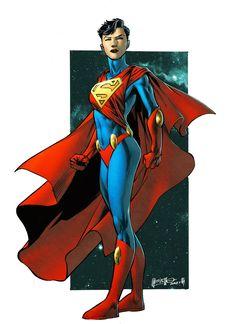 Superwoman... Laurel Kent by spidermanfan2099 Lineart by Jesus Merino