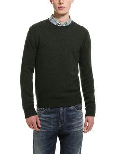Wool Crewneck Sweater   (Olive Green)  A.P.C.
