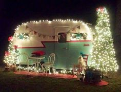 Love this Cute Vintage Camper all decorated for Christmas!!! Bebe'!!! So...Merry Christmas where ever you may go!!!