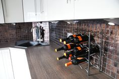 Recently completed kitchen with floor to ceiling kitchen cabinets in Lincolnshire UK from http://www.premier-kitchens.co.uk visit our website to book a free 3D Design and Plan visit.