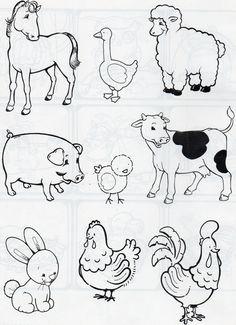 Wild Animals For Kids Coloring Jungle Animals Coloring Pages . Animal Coloring Pages, Colouring Pages, Coloring Books, Kids Coloring, Animal Activities, Animal Crafts, Jungle Animals, Farm Animals, Wild Animals
