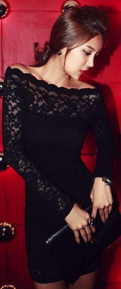 Chic lace black dress... bachelorette party dress!!