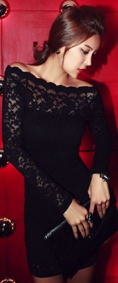 Chic lace black dress... bachelorette party dress!!