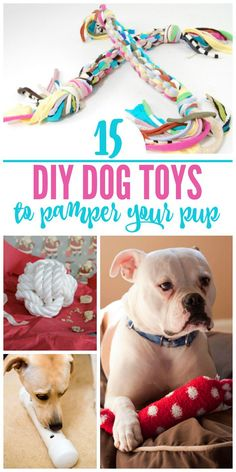 Do you have a tight Christmas budget this year but still want to make sure that special member of you family is included in the holiday festivities? Try one of these DIY dog toy ideas! There is bound to be something your puppy loves in this list of easy t Diy Pet, Diy Dog Toys, Pet Toys, Cute Dog Toys, Homemade Dog Toys, Toy Diy, Dog Training Methods, Basic Dog Training, Training Dogs