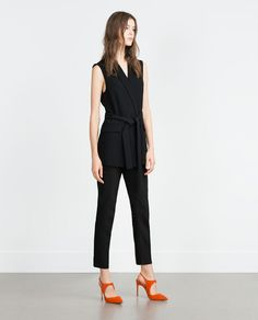 ZARA - COLLECTION AW15 - SUEDE SLINGBACK HIGH HEEL SHOES