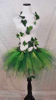 Adult Ivy Leaf Costume Green Leaf Garden Fairy by pearlsandtulle