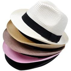 Wholesale-Unisex-fashion-jazz-bowler-sun-hat-short-brimmed-PP-material-straw-beach-leisure-caps-multi
