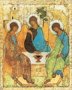 The icon of the Trinity - painted around 1410 by Andrei Rublev