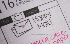 HAPPY MAIL Planner Stickers  Filofax Erin Condren by MadeByElissa