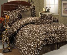 7 Piece Queen Giraffe Animal Kingdom Bedding Comforter Set for sale online Giraffe Bedroom, Safari Bedroom, Giraffe Decor, Cheetah Bedroom, Animal Kingdom, Animal Print Bedding, Animal Prints, Bed In A Bag, Comforter Sets