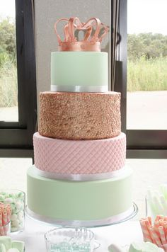 Rose Gold Princess Party - Cake By Do Me Too